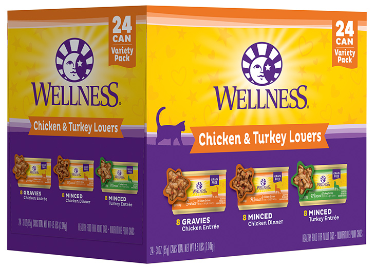 Wellness wet cat food variety pack