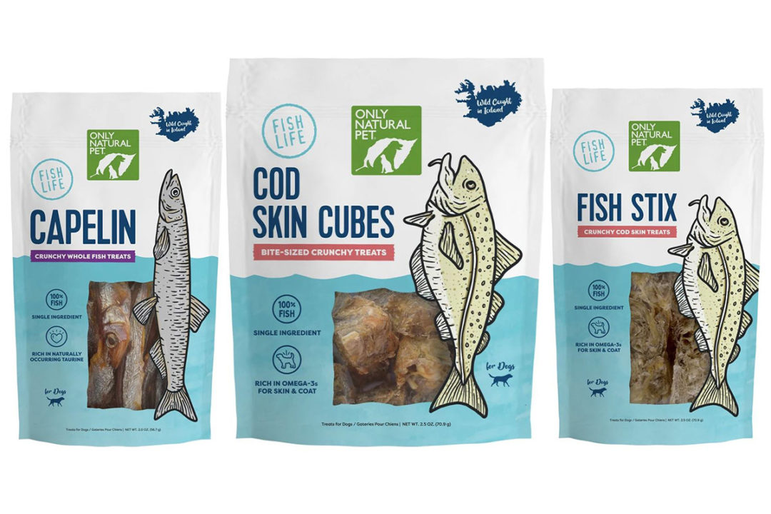 Only Natural Pet adds single-ingredient fish treats for dogs