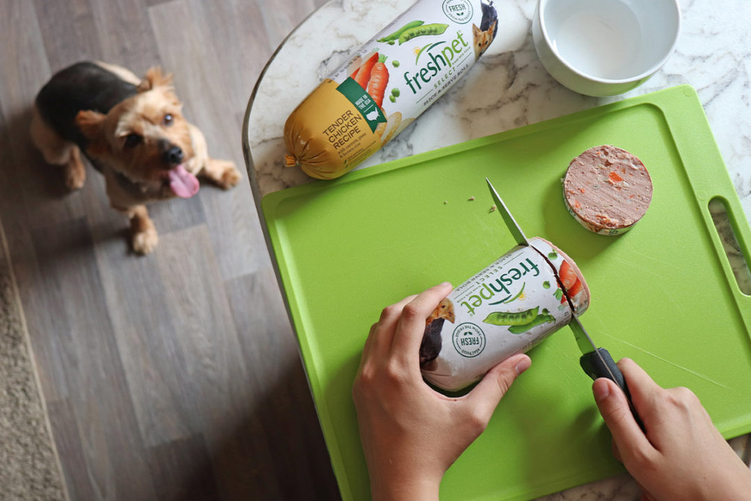 Freshpet's fresh, refrigerated dog diets in chub roll packaging