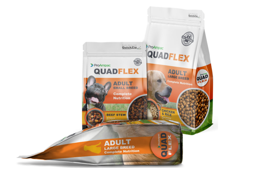 ProAmpac creates sustainable quad-seal package for pet food and treats