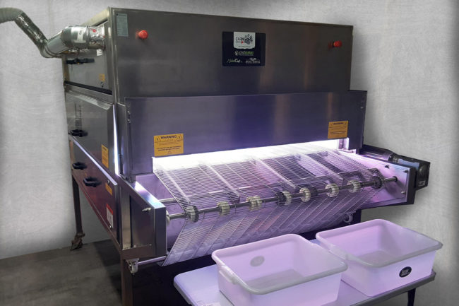 A pet food manufacturing company has donated a UV sterilizing chamber to be used for face masks for medical personnel responding to COVID-19