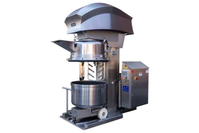 Topos Mondial has updated its double planetary vertical mixer with improved sanitation, cleaning and durability features