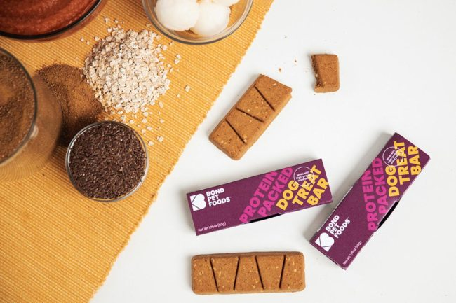Biotech startup launches first product, Protein-Packed Dog Treat Bars