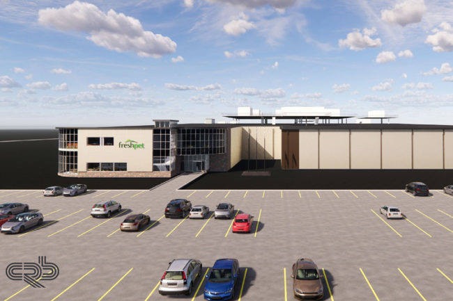 CRB's rendering of Freshpet's future manufacturing campus in Texas