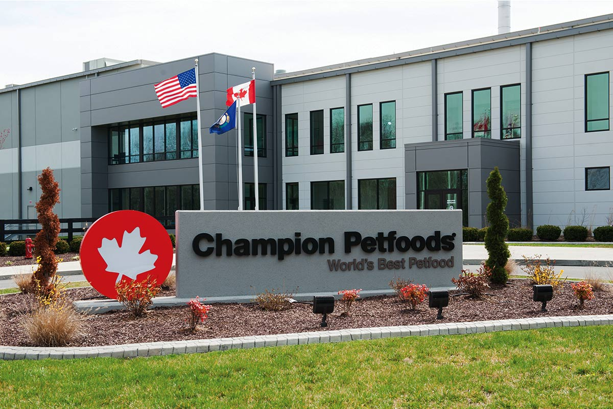 Champion Petfoods' DogStar pet food manufacturing facility in Auburn, Kentucky