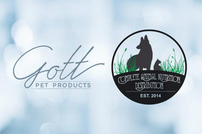 Gott Pet Products, Complete Animal Nutrition logos on light blue background (©STOCKR - STOCK.ADOBE.COM)