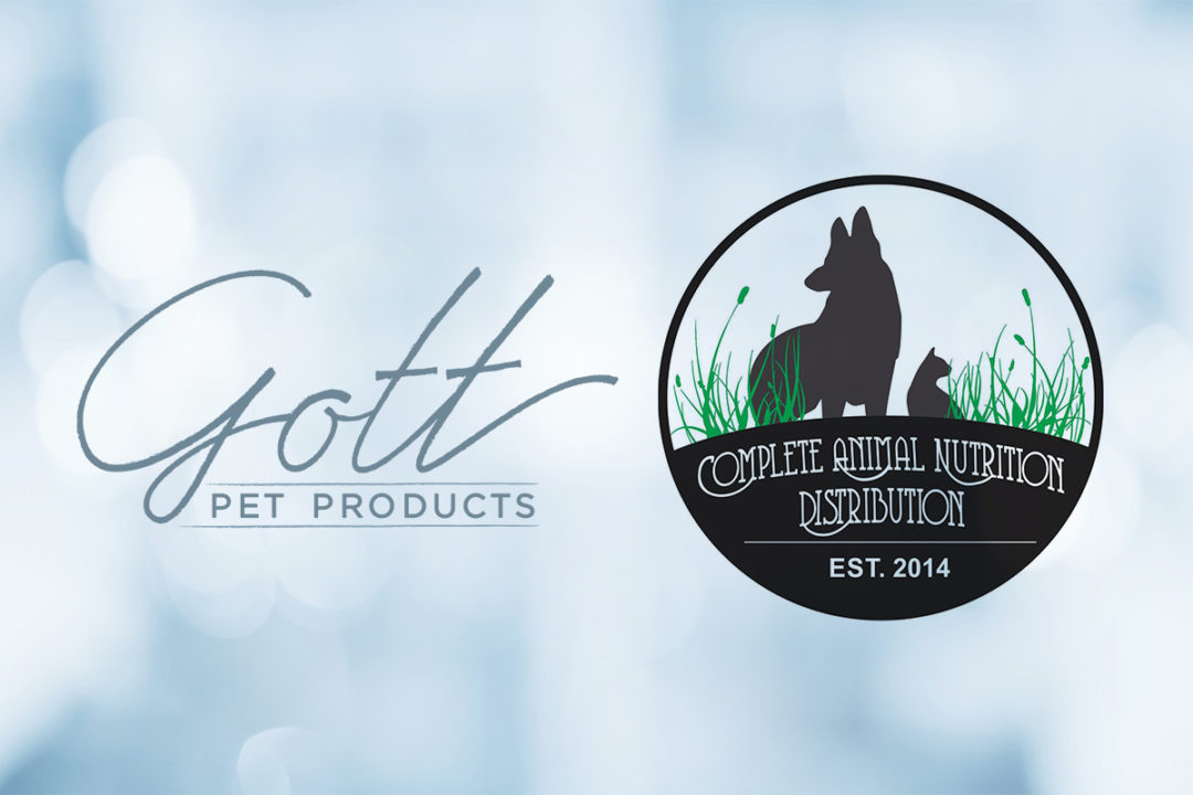 Gott Pet Products, Complete Animal Nutrition logos on light blue background (©STOCKR - STOCK.ADOBE.COM)