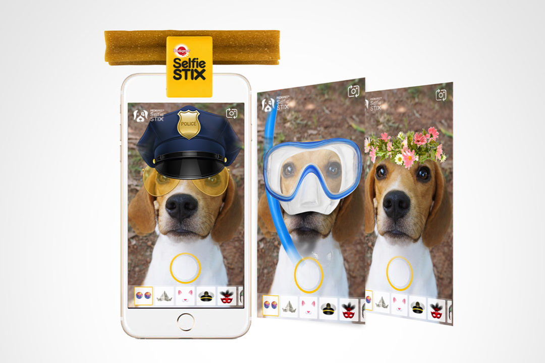 PEDIGREE's SelfieSTIX clip and PupBooth feature in new mobile app