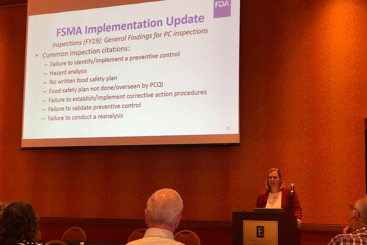 Jenny Murphy presents at Pet Food Alliance 2019 Summer Meeting on behalf of the FDA