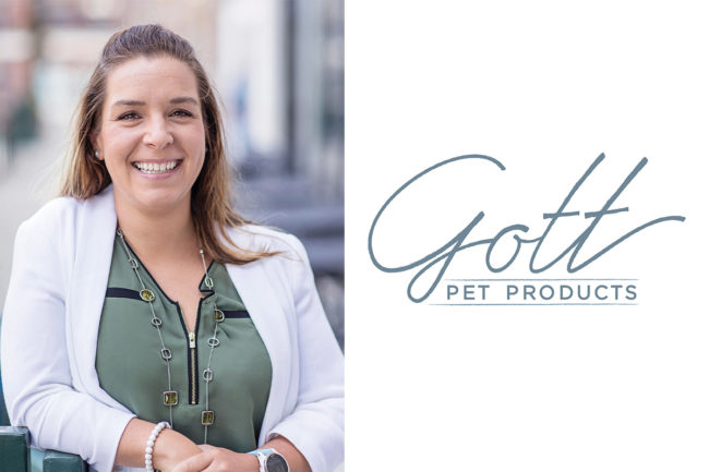 Gina Schleuter, new inside sales and customer care representative for Gott Pet Products