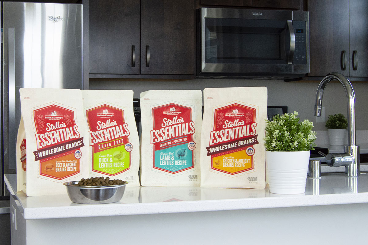 Stella's Essentials new Grain-Free and Wholesome Grains dog foods