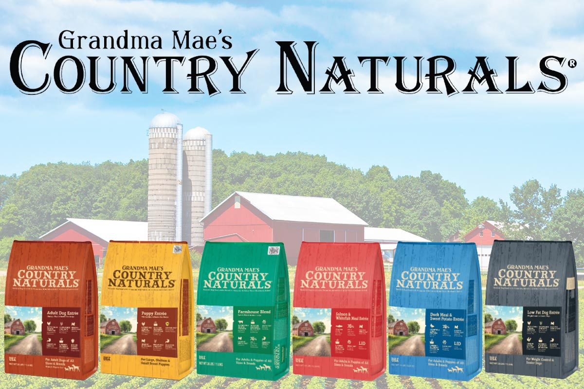Grandma Mae's Country Naturals grain-inclusive dog food line