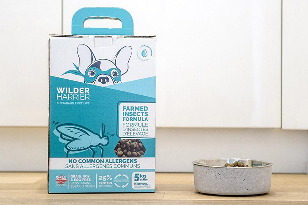 Wilder Harrier insect-based dog food