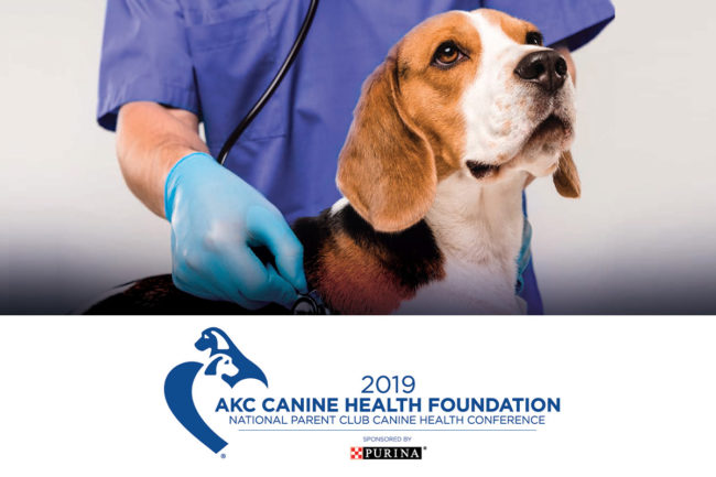 2019 AKC Canine Health Foundation National Parent Club Canine Health Conference