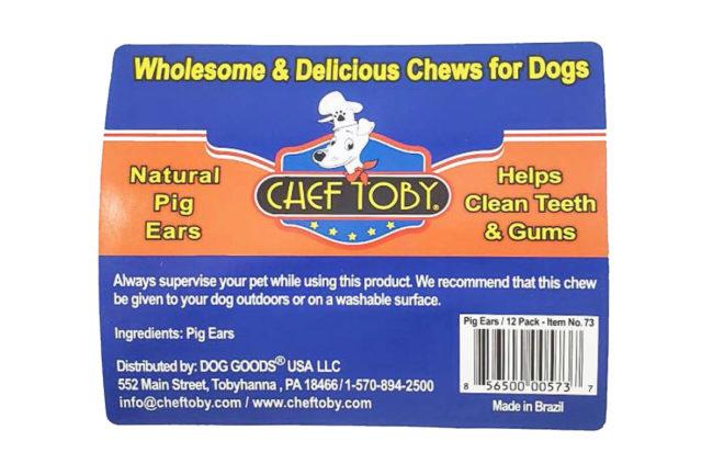 Dog Goods recalls Chef Toby Brazilian pig ear dog treats