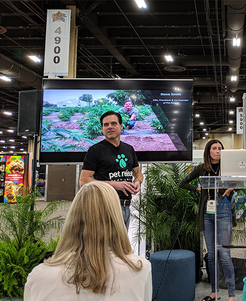 Steve Smith, CEO of Pet Releaf speaks about CBD during SuperZoo