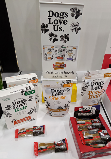 Dogs Love Us new product packaging and logo