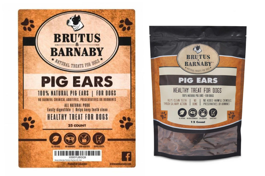 Brutus & Barnaby recall pig ear dog treats for Salmonella risk