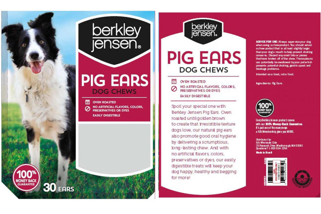 Dog Goods expands pig ear recall to additional Brazilian products