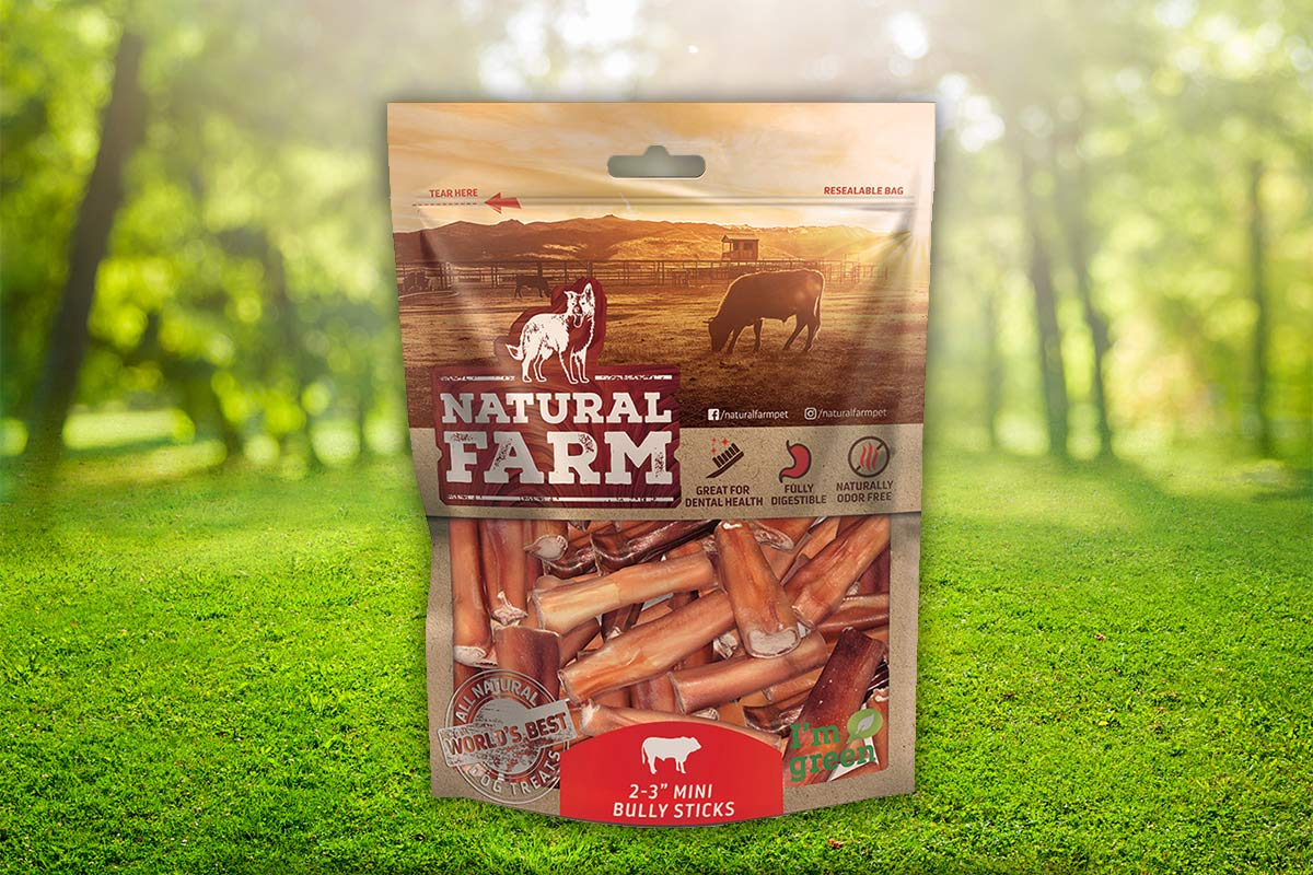 Natural Farm mini bully sticks for dogs