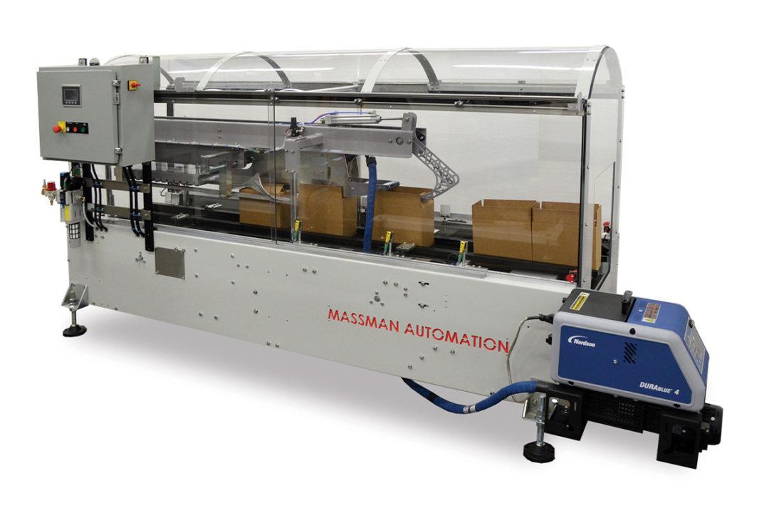Massman introduces compact HMT-Mini Top Only case sealer