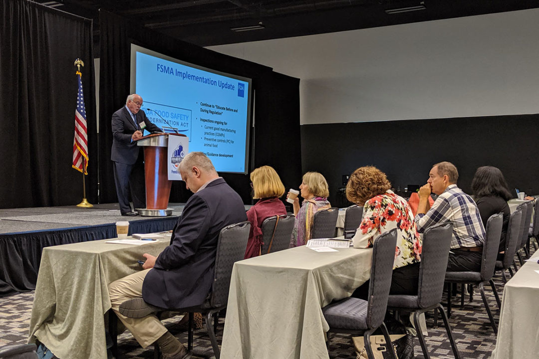 Dr. Steven Solomon, director of the Center for Veterinary Medicine, presented updates on the agency's structure, agenda and animal health concerns.