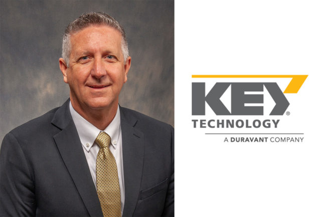 Dan Leighty, new global vice president of sales at Key Technology.