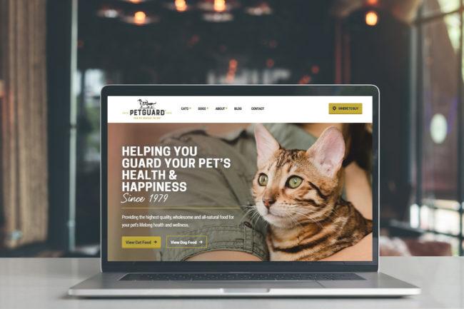 New PetGuard website solidifies modern-nostalgic rebranding