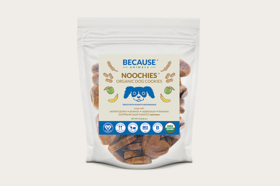 Meatless pet food and treat startup launches first organic, nutritional yeast dog cookie