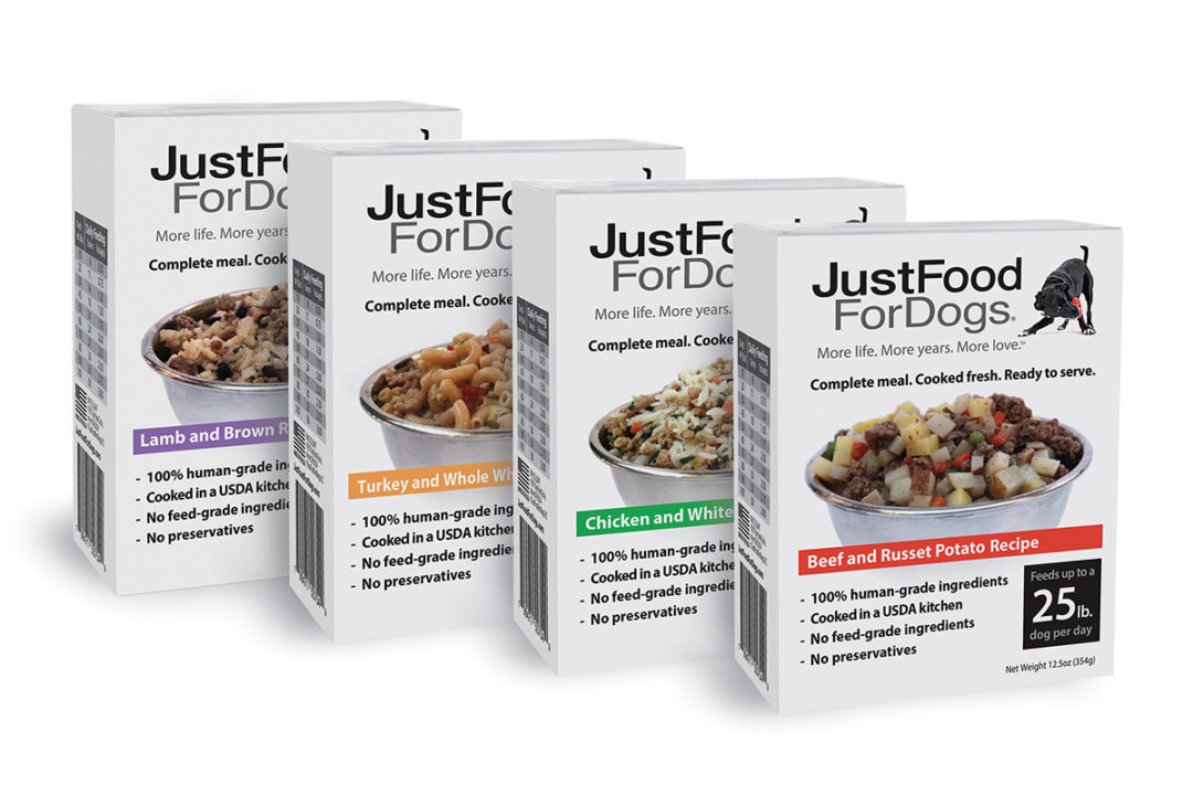 JustFoodForDogs extends shelf-stable dog food line