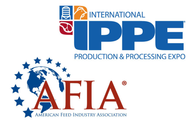 American Feed Industry Association (AFIA) and International Production and Processing Expo (IPPE) logos