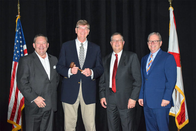 From left: Lee Hall, former AFIA board chair (2017-18); Tim Belstra, current AFIA board chair (2019-20); Bruce Crutcher, immediate past board chair (2018-19); AFIA President and CEO Joel G. Newman.