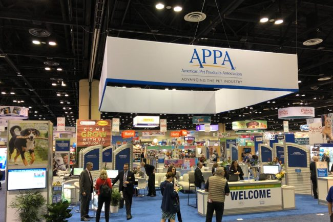 American Pet Products Association booth and others at Global Pet Expo 2019