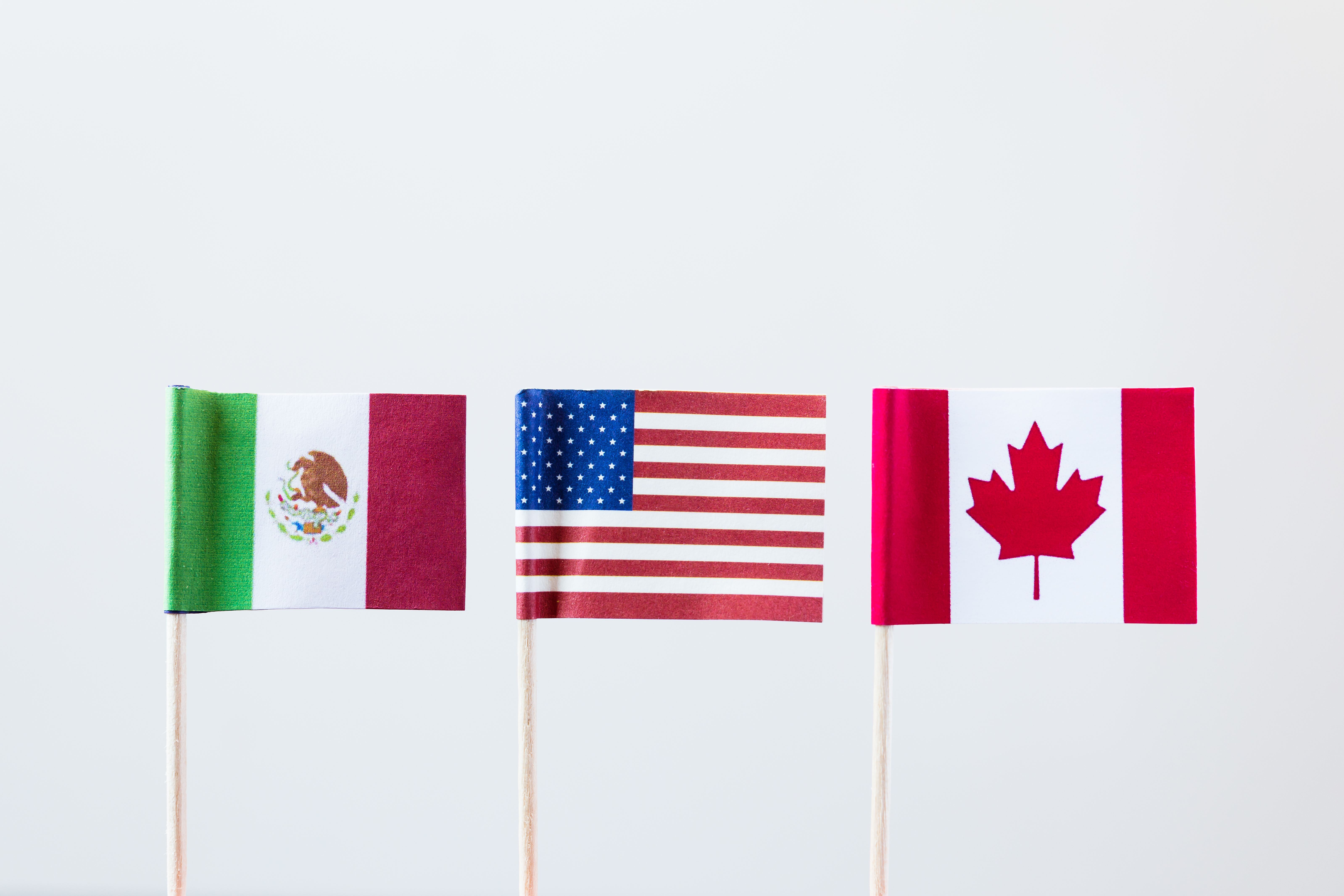 Mexico, United States, Canada flags (©STOCKR - STOCK.ADOBE.COM)