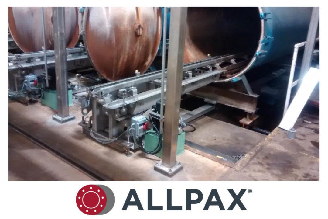 Allpax telescoping retort loader