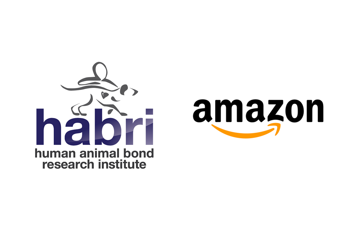 Human Animal Bond Research Institute (HABRI) logo and Amazon logo