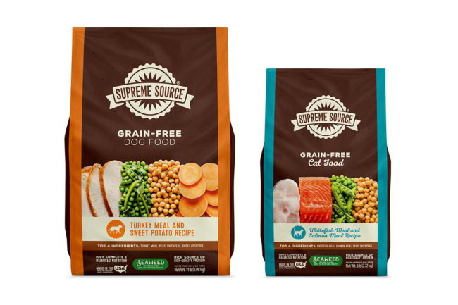 New sustainable packaging for American Pet Nutrition's Supreme Source pet food brand