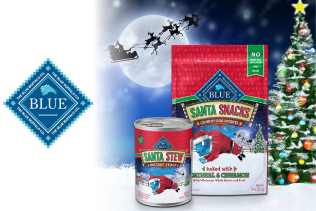 Blue Buffalo Santa Snacks and Santa Stew seasonal dog products