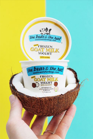 The Bear & The Rat's new Frozen Goat Milk Yogurt with  Optagest®