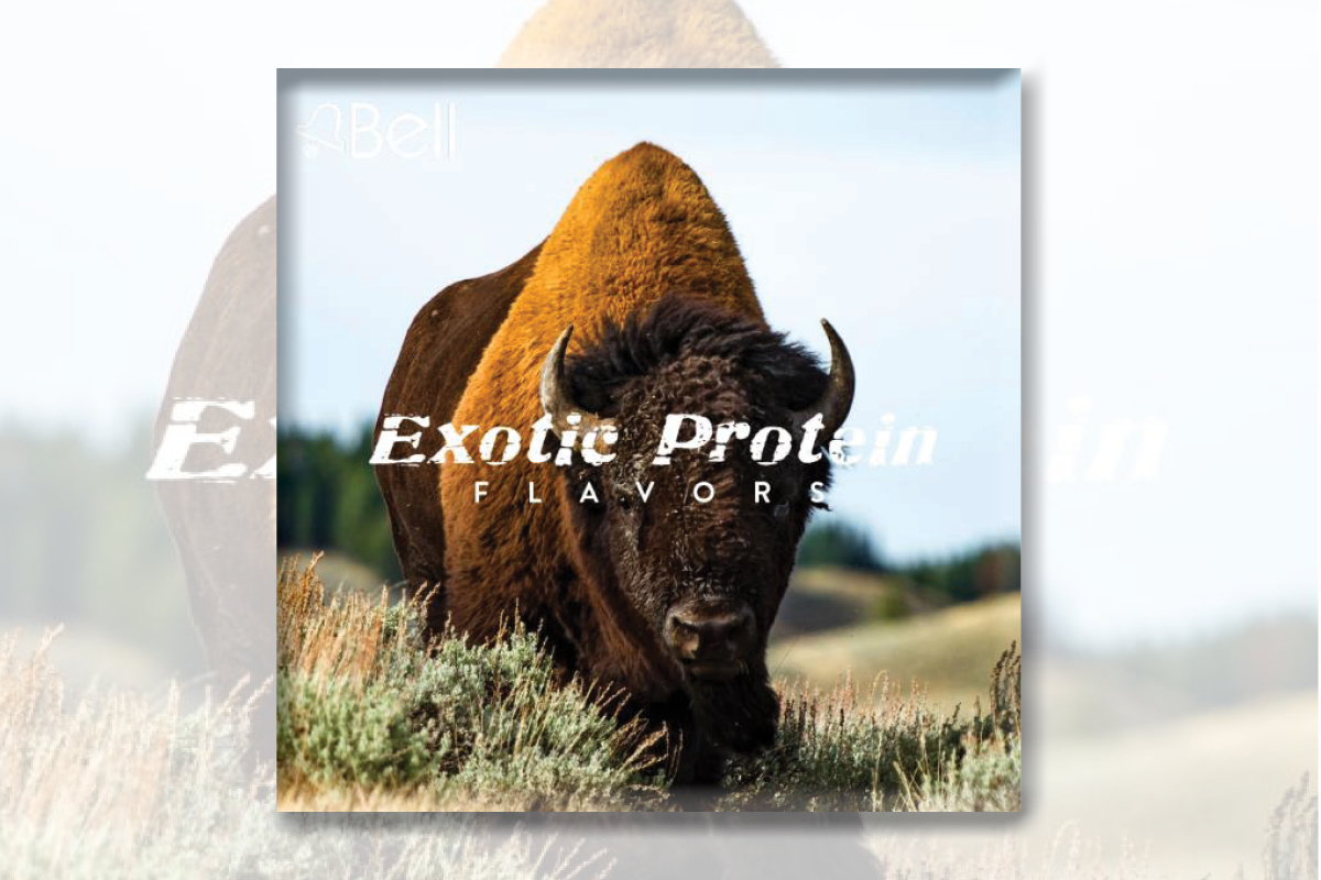 Bison with words exotic protein flavors