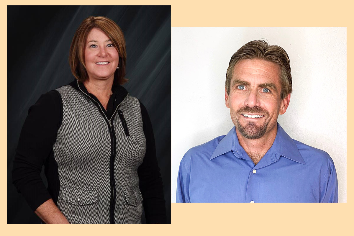 Michelle Carter, new national accounts sales manager, and Scott Warwick, new territory sales manager west.