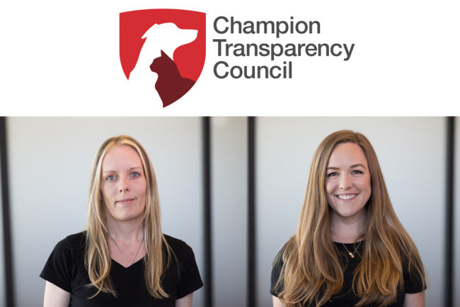 From left: April Scott and Andrea Coffman, two consumers appointed to Champion Petfoods' Transparency Council.
