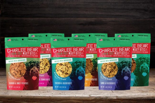 Charlee Bear grain-free meaty bites infused with superfoods