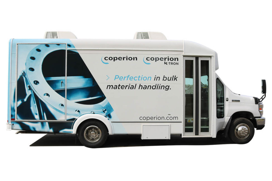 Coperion's Traveling Equipment Display (TED) vehicle