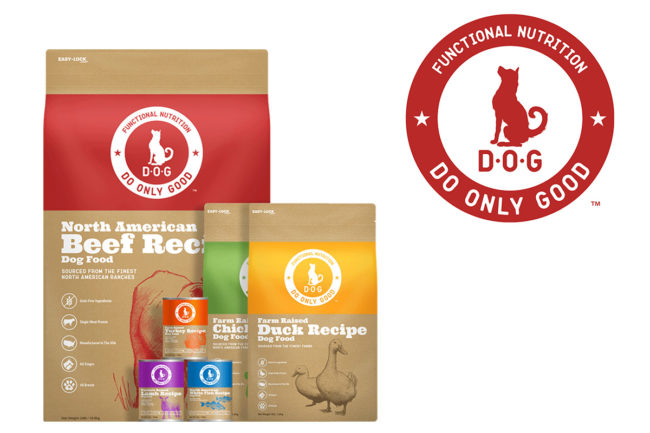 D.O.G. products and logo