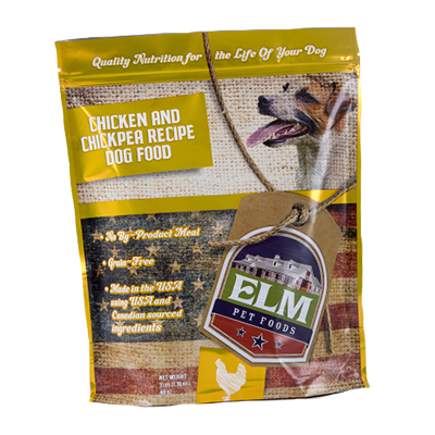 ELM Pet Foods Chicken and Chickpea dry dog food recipe