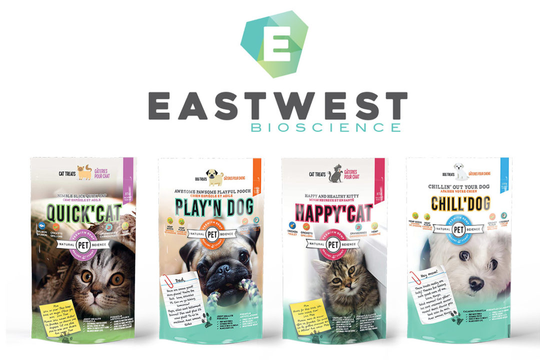 EastWest new CBD pet products: Quick'Cat, Play'n'Dog, Happy'Cat and Chill'Dog