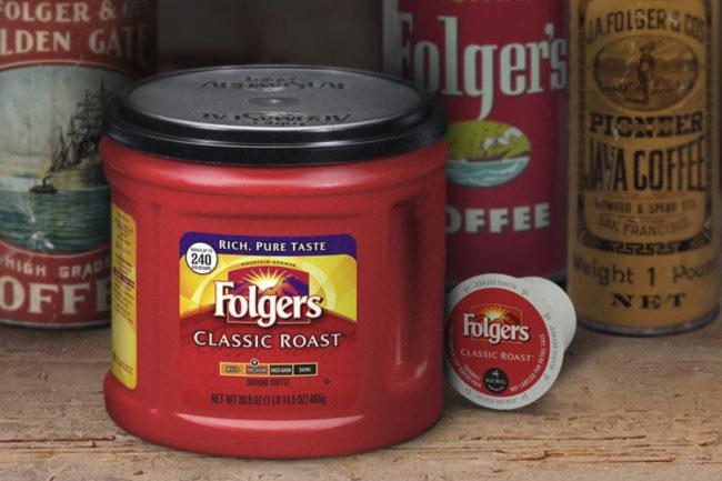 Folger's Classic Roast coffee