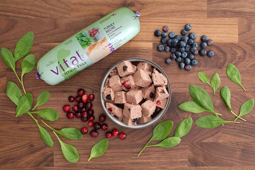 Freshpet grain-free dog food roll, turkey recipe