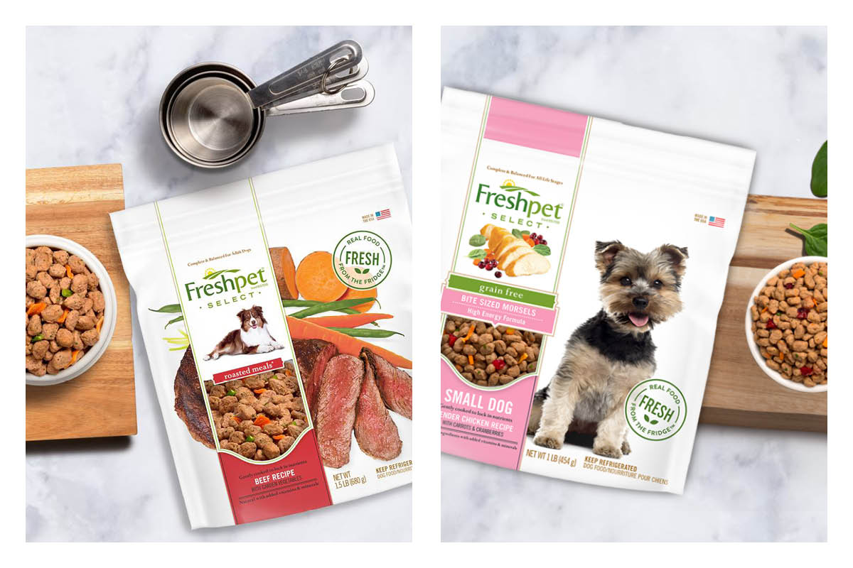 Freshpet small dog and roasted meals